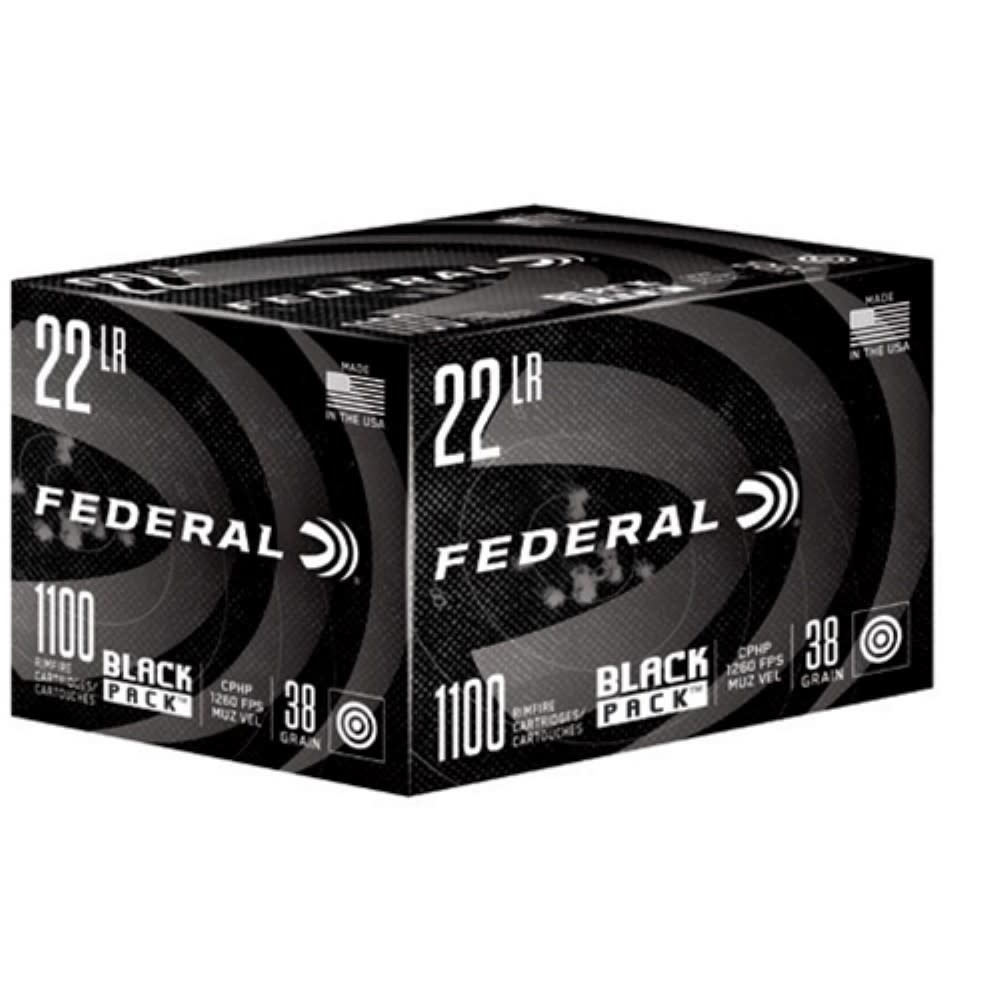 Federal Federal Black Pack 22LR 38 GR HP 1100RDS