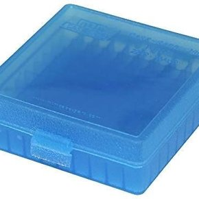 MTM MTM Case-Gard Handgun Ammo Box, P-100 Series - P100-22-24, 100rds, Clear Blue