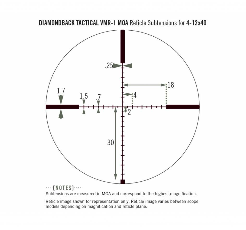 Vortex Optics Vortex Diamondback Tactical 4-12x40 Riflescope with VMR-1