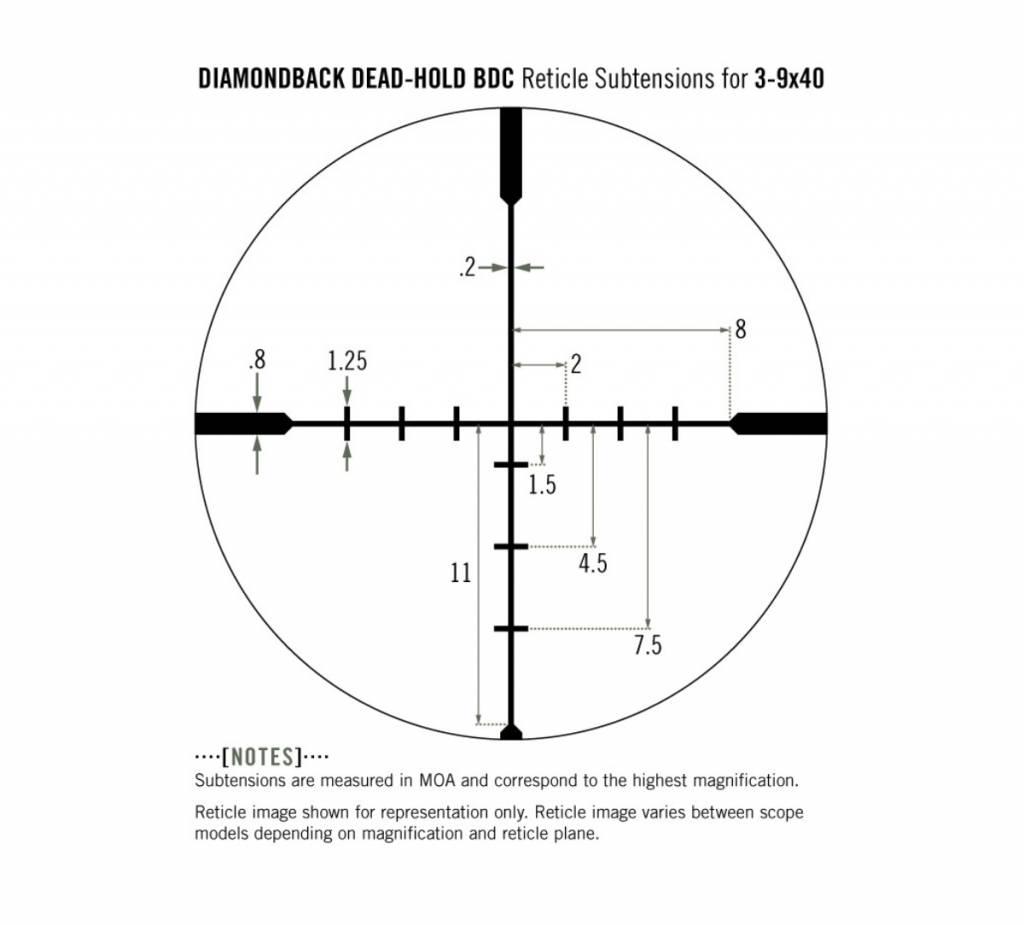 Vortex Optics Vortex Diamondback 3-9x40 Riflescope BDC