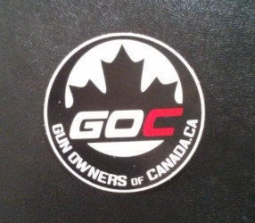 """Gun Owners of Canada Gun Owners of Canada 3"""" Round Sticker"""