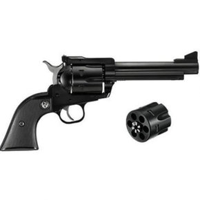 "Ruger New Model Blackhawk Single Action Revolver Convertible .357 Magnum And 9mm Cylinders 6.5"" Barrel Blued"