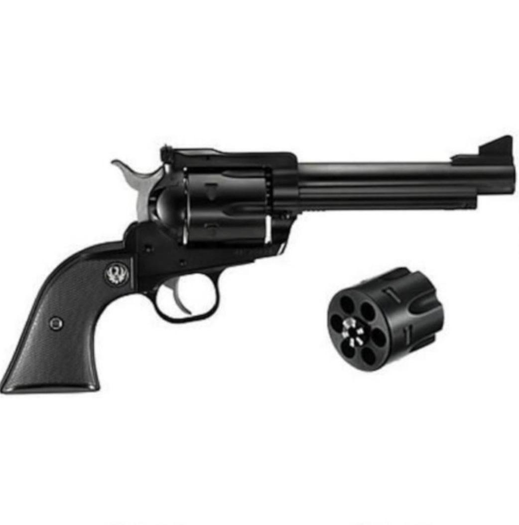 "Ruger New Model Blackhawk Single Action Revolver Convertible .357 Magnum And 9mm Cylinders 6.5"" Barrel Blued"