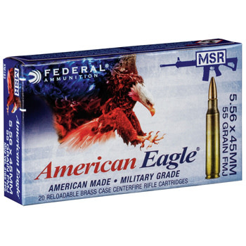 Independence Federal American Eagle 5.56x45MM XM 55 Grain FMJ Box of 20