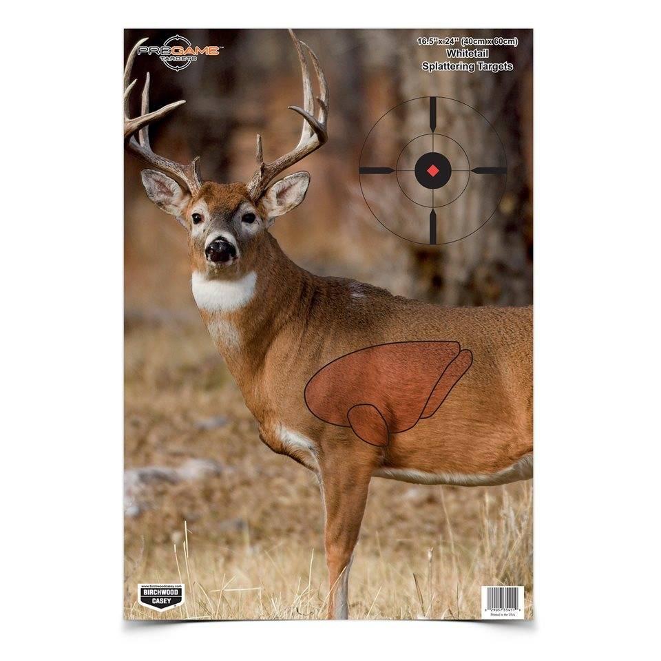 """Birchwood Casey Birchwood Casey PREGAME® 16.5"""" x 24"""" Whitetail Deer Target"""
