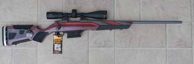 "Howa SALE - Howa M1500 Laminate 6.5 Creedmore 22"" threaded brl w/ Truglo 4-12x44 scope (apple jack)"