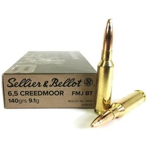 Sellier & Bellot SALE - Sellier & Bellot 6.5 Creedmoor, 140gr, FMJ BT Box of 20