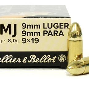 Sellier & Bellot Sellier & Bellot 9mm 124gr FMJ Box of 50