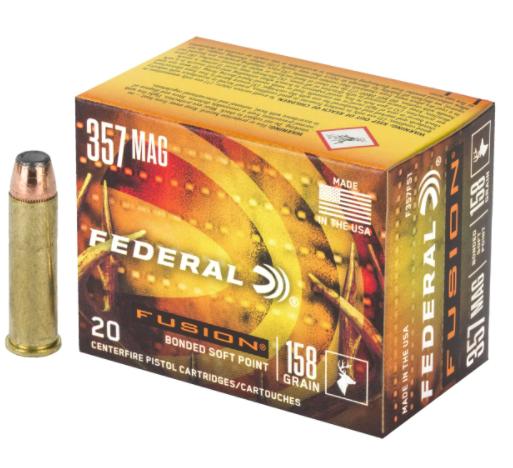 Federal Ammunition Federal 357 Mag 158g Fusion Box of 20