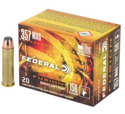 Federal Federal 357 Mag 158g Fusion Box of 20