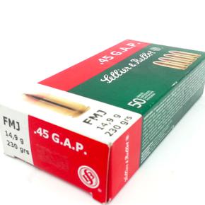 Sellier & Bellot Sellier & Bellot 45 GAP 230g FMJ Box of 50