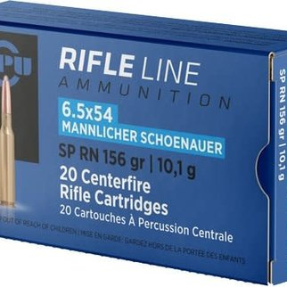 PPU PPU 6.5x54 Mannlicher 156gr Box of 20