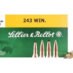 Sellier & Bellot Sellier & Bellot Ammunition 243 Winchester 100 Grain Soft Point Box of 20