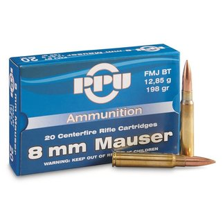 PPU PPU 8mm Mauser 198 Grain FMJ-BT Box of 20