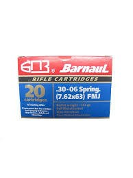 Barnaul Barnaul 30-06 Springfield 145gr FMJ Box of 20