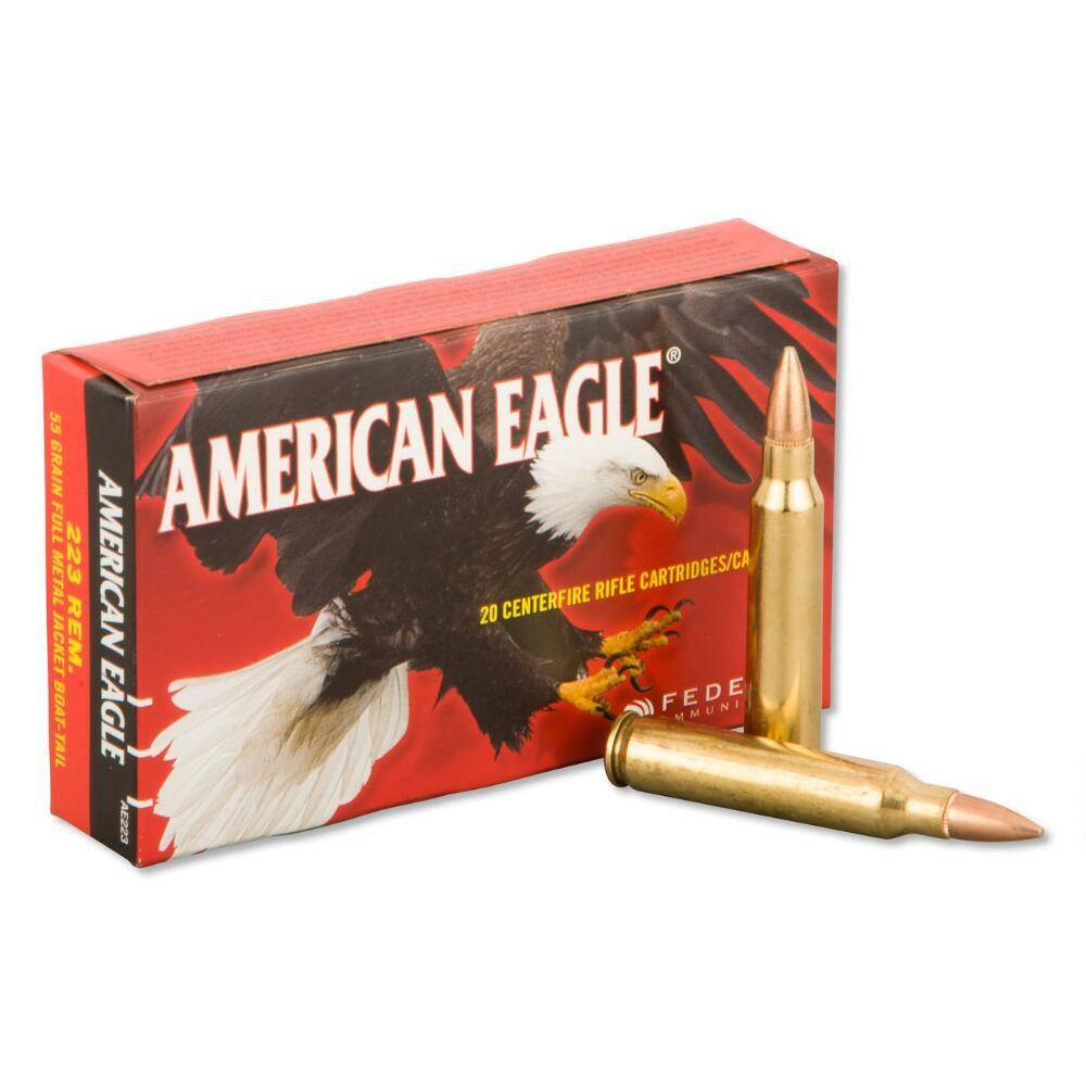 American Eagle Federal American Eagle 223 Rem, 55gr, FMJ, Box of 20
