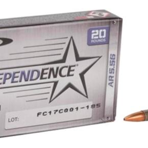 Independence Independence 5.56x45 55gr FMJ 20rnd pack