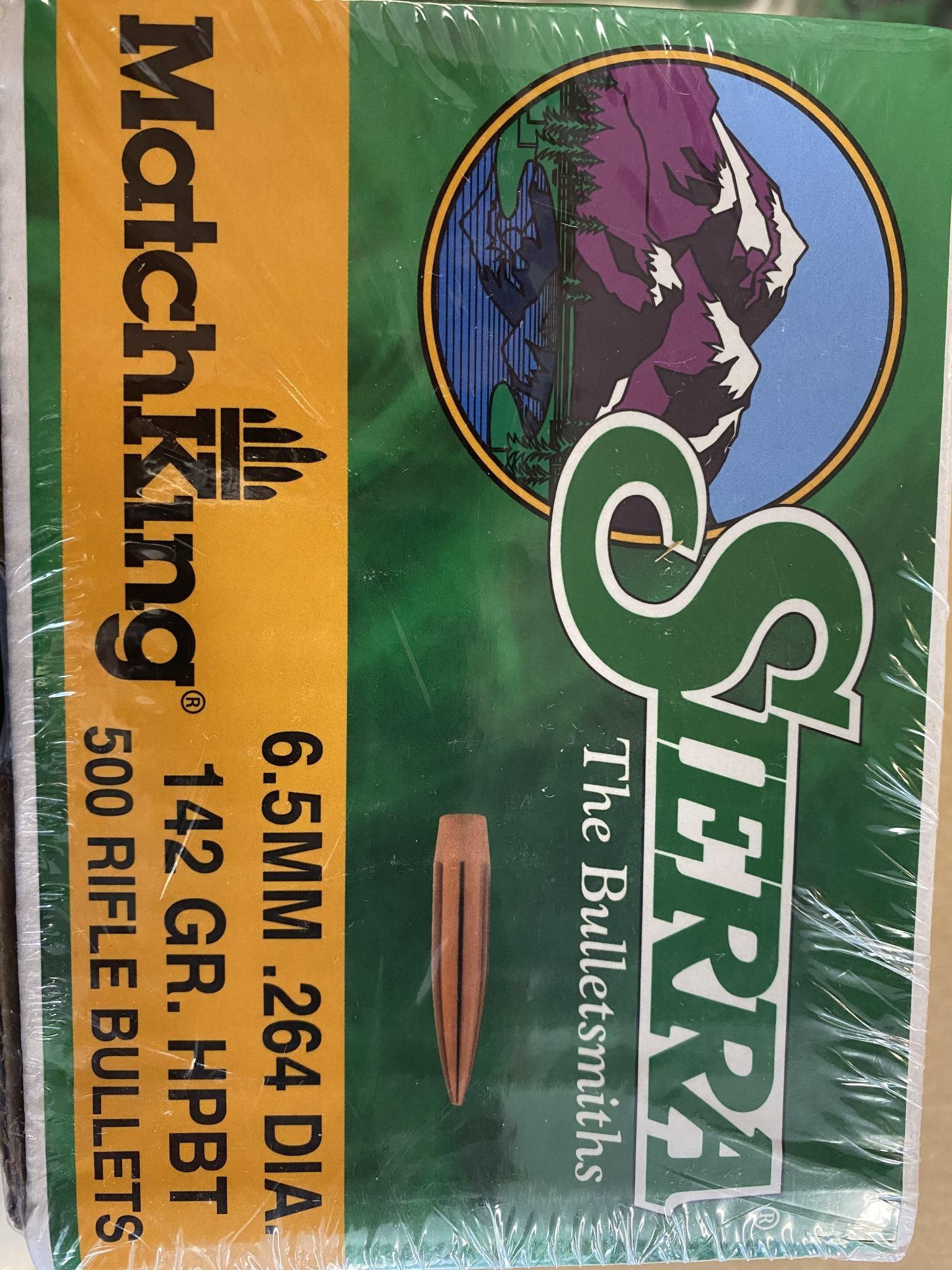 Sierra Sierra Matchking 6.5MM 142gr HPBT 500 Rifle Bullets