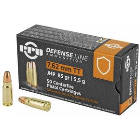 PPU - Defence Line JHP 7.62x25 Tokarev 85gr Box of 50
