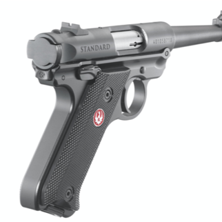 "Ruger Ruger Mark IV Standard Semi-Auto Pistol .22LR 4.75"" Barrel 10 Rounds Fixed Sights Checkered Synthetic Grips Aluminum Frame Blued Finish"