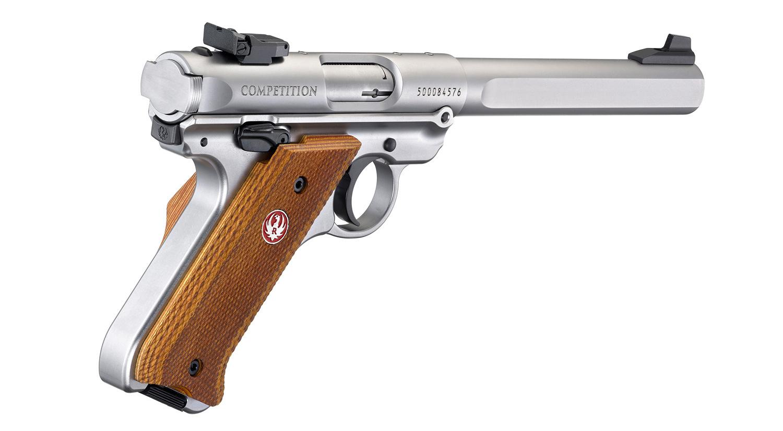 """Ruger Ruger Mark IV Competition Semi-Auto Pistol .22LR 6.8"""" Barrel 10 Rounds Slab-Sided Bull Barrel"""