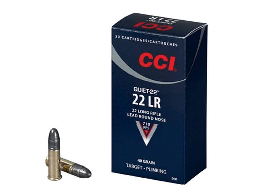 CCI CCI .22LR Quiet 40 Gr. Box of 50