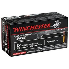 Winchester Winchester 17 Win Super 25Gr.  Box of 50