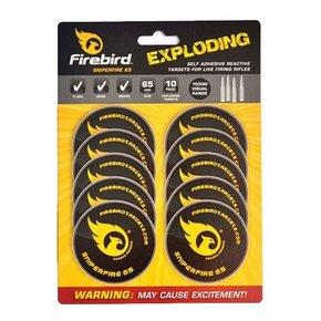 Firebird Firebird Sniperfire 65 Exploding Self Adhesive Reactive Targets for Live Firing Rifles