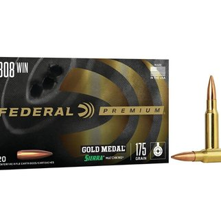 Federal Ammunition Federal Premium Gold Medal 308 Win 175 Gr. Sierra MatchKing Hollow Point Boat Tail