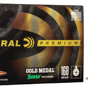 Federal Ammunition Federal Premium Gold Medal 308 Winchester 168 Grain Sierra MatchKing Hollow Point Boat Tail