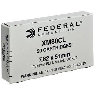 Federal Ammunition Federal 7.62x51mm FMJ 149 Gr. Box of 20