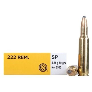Sellier & Bellot Sellier & Bellot 222 REM. 50 Grain SP Box of 20