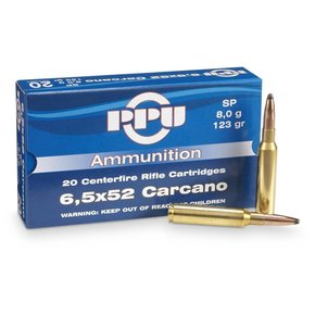 PPU PPU 6.5x52 Carcano 139 Gr. FMJ BT Box of 20