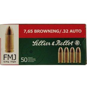 Sellier & Bellot Sellier & Bellot 32 ACP 73 Grain Full Metal Jacket Box of 50