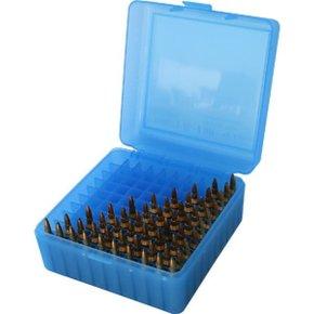 MTM RM10024 CaseGard Ammo Box 100rnd Clear Blue