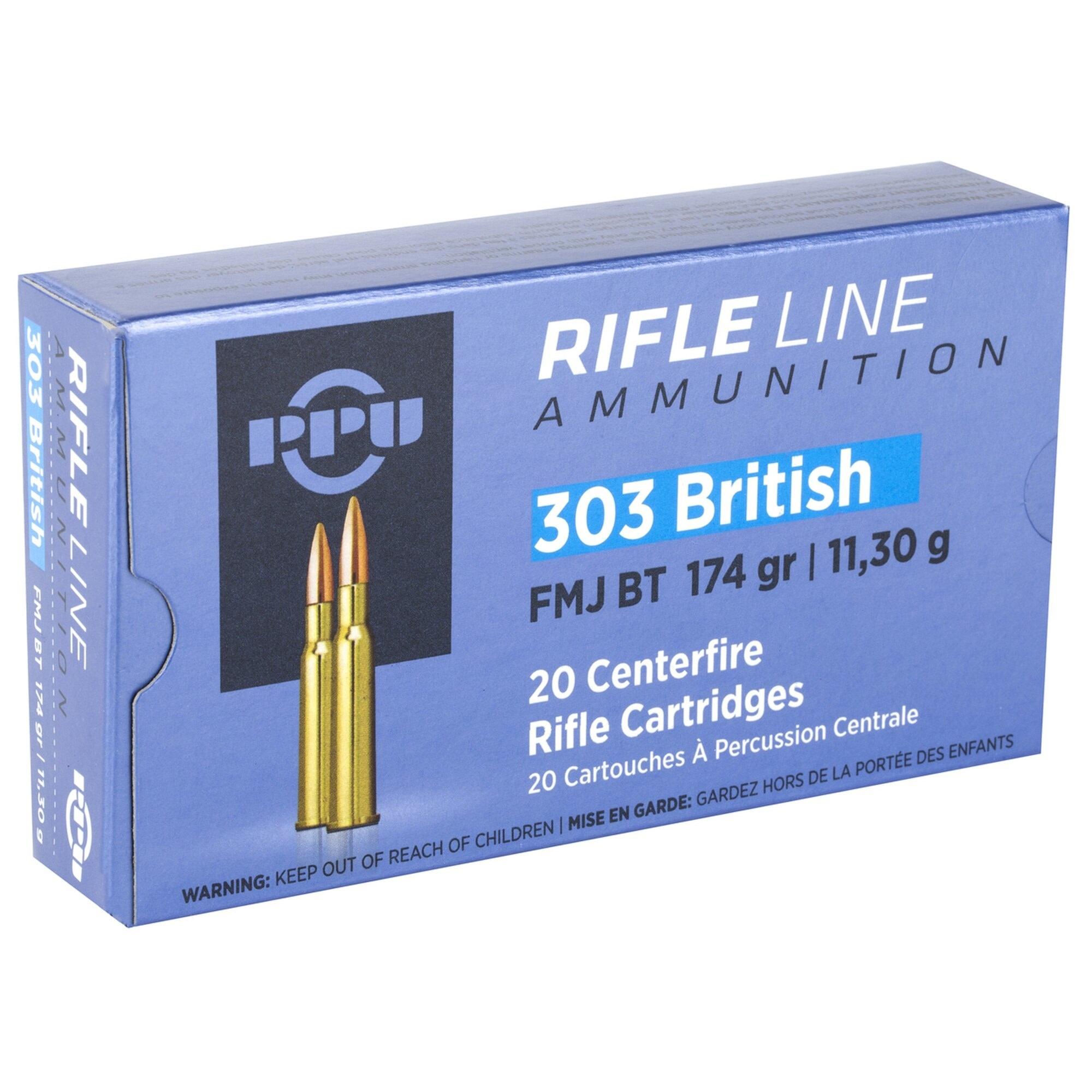 PPU PPU .303 British 174gr FMJ Box of 20rnds