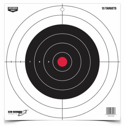 """Birchwood Casey Birchwood Casey EZE Scorer Bullseye 12"""" Paper Target Pack of 13"""