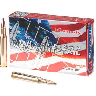 Hornady HORNADY AMERICAN WHITETAIL 243 WINCESTER 100 GRAIN INTERLOCK SPIRE POINT BOAT TAIL BOX OF 20