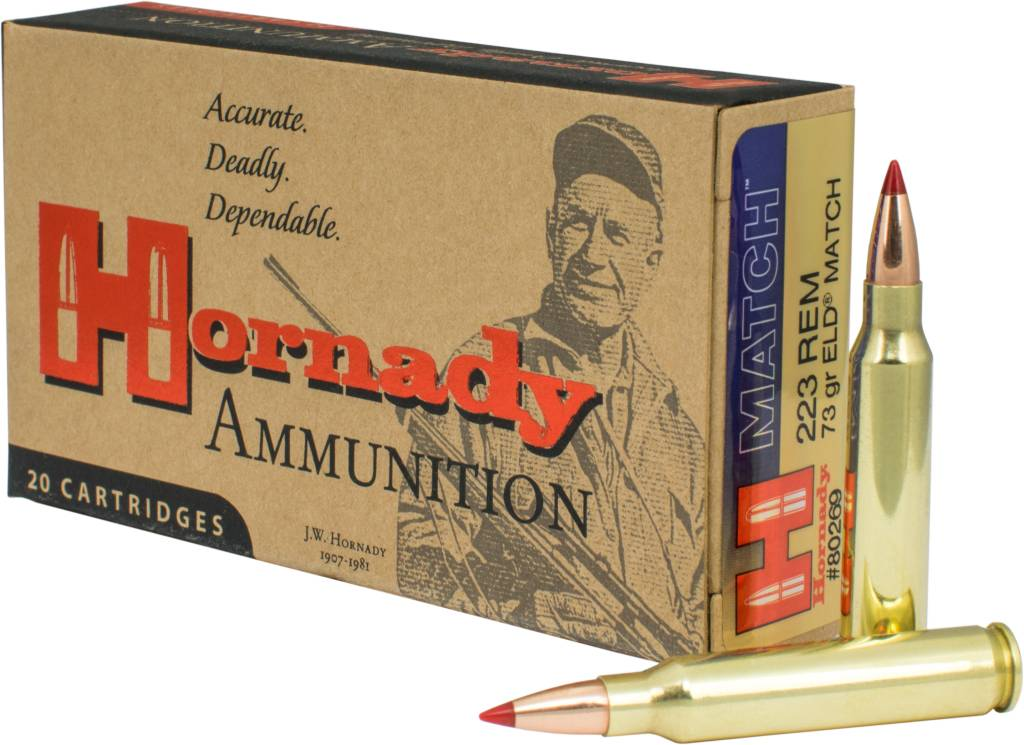 Hornady Hornady 223 REM 73 GR ELD Match Box Of 20