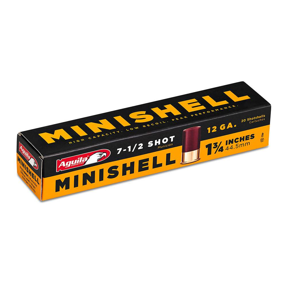 "Aguila Aguila Minishell 12 Gauge 7-1/2 Shot 1 3/4"" Box Of 20"
