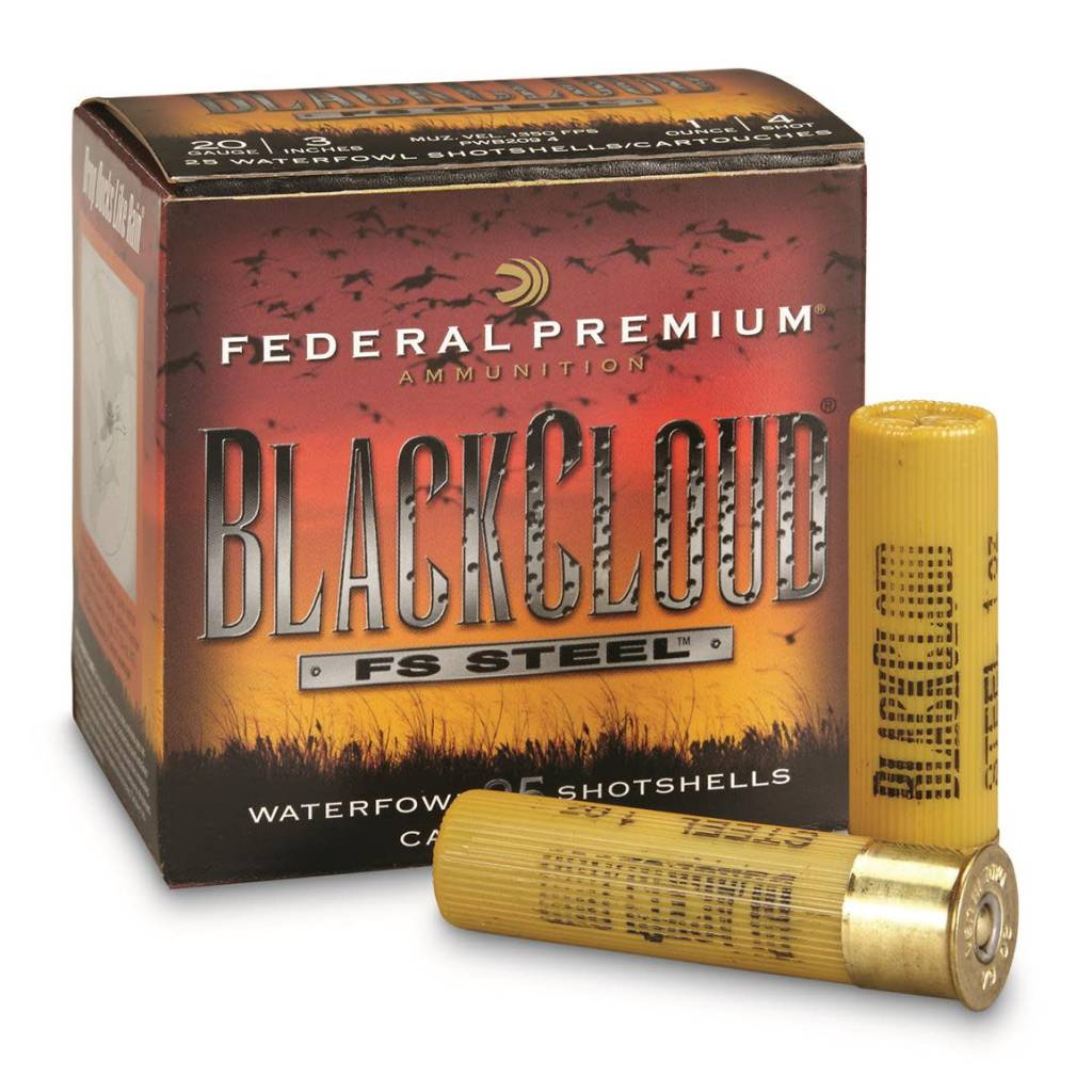 "Federal Ammunition Federal Blackcloud FS Steel 20 gauge 3"" 4 shot"