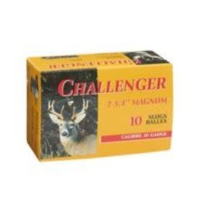 "Challenger Ammunition Challenger Magnum Rifled Shotgun Slugs 20 Gauge 2 3/4"" Box of 10"
