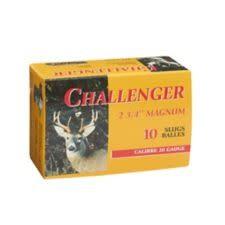 """Challenger Ammunition Challenger Magnum Rifled Shotgun Slugs 20 Gauge 2 3/4"""" Box of 10"""