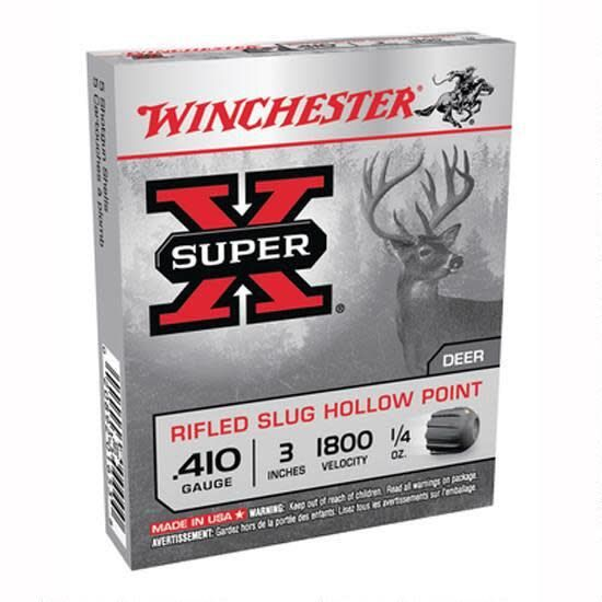 "Winchester Winchester .410 3"" Rifled Hollow Point Slug Box Of 5"