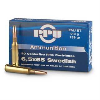 PPU PPU 6.5x55 Swedish 139 Grain FMJ-BT Box of 20