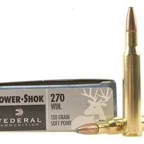 Federal Ammunition Federal Power-Shok 270 Winchester 130 Grain Soft Point