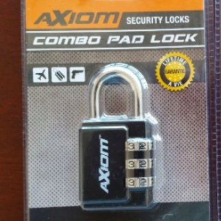 Axiom Combo Pad Lock XCL1