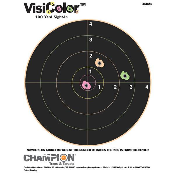 Champion Champion VisiColor 100 Yard Sight In Targets 10 Pack