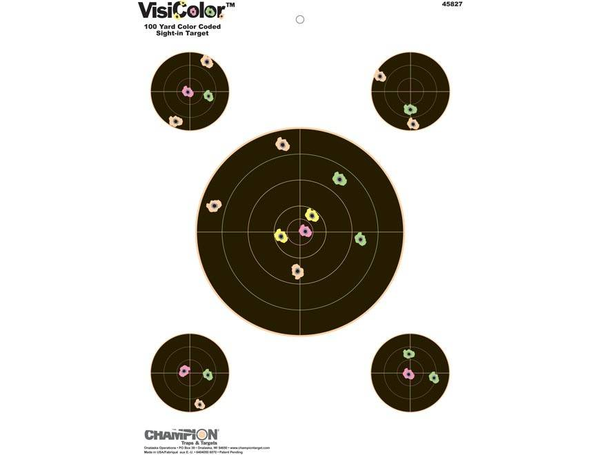 Champion Champion VisiColor Sight in Targets 10 Pack