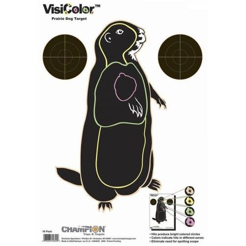 Champion Champion Visicolor Prairie Dog Target 10 Pack